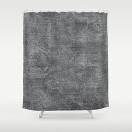 Glacier Gray Oil Painting Color Accent Shower Curtain
