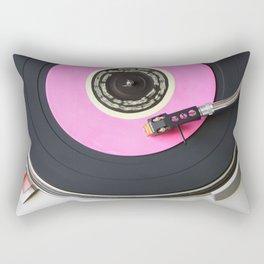 Pink Vinyl Record Rectangular Pillow