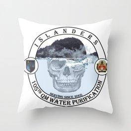 105th QM Islander Throw Pillow