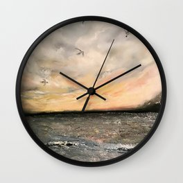 Birds on the ocean Wall Clock