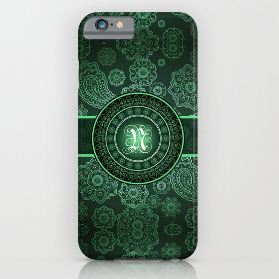 Monogrammed Aridi N Green iPhone & iPod Case