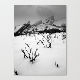 Red Rocks in the Snow Canvas Print