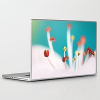 cherry blossom Laptop & iPad Skins featuring Cherry Blossom by Sharon Johnstone