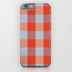 Pixel Plaid - Autumn Bark iPhone 6s Slim Case