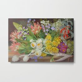 Medley of Wild Summer Mountain Flowers still life painting Metal Print