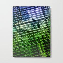 Building Reflection in La Defense District in Paris Metal Print