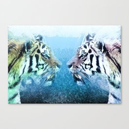 Tiger brothers in Mirror universe Canvas Print
