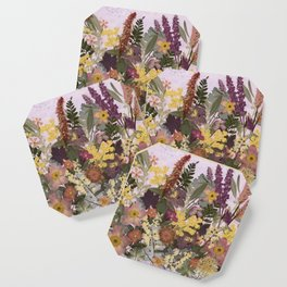 Pressed Flower English Garden Coaster