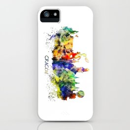 Cracow skyline color iPhone Case