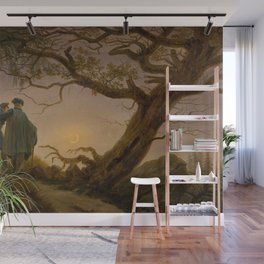 Caspar David Friedrich - Two Men Contemplating the Moon Wall Mural