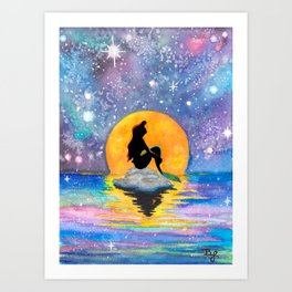 The Little Mermaid Galaxy Art Print