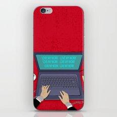 LOVE WORK iPhone & iPod Skin