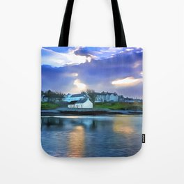 Cockle Row Cottages, Ireland. (Painting) Tote Bag
