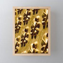 Parisian Gold Fluer De Lis Embossed Design Framed Mini Art Print