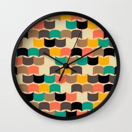 Retro abstract pattern Wall Clock