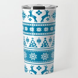 Christmas Holiday Nordic Pattern Cozy Travel Mug