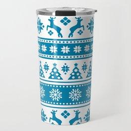 Christmas Holiday Nordic Pattern Cozy Travel Mug
