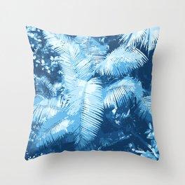Blue Djungle Throw Pillow