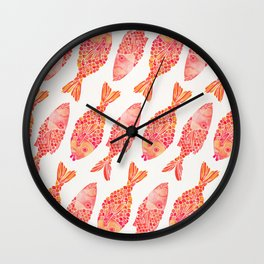 Indonesian Fish Duo – Melon Palette Wall Clock