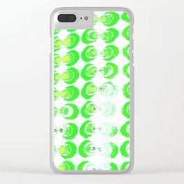 Green circles fabric Clear iPhone Case