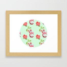 Raspberries & Camellias Framed Art Print