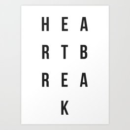"""The Heartbreak Sessions"" Art Print"