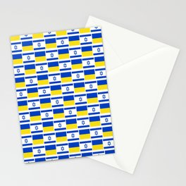 Mix of flag : Israel and Ukraine Stationery Cards
