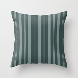 Scarborough Green PPG1145-5 Thick and Thin Vertical Stripes on Night Watch Color of the Year 2019 Throw Pillow