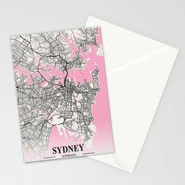 Sydney - Australia Neapolitan City Map Stationery Cards