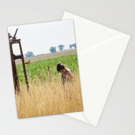 Anabella in the field Stationery Cards