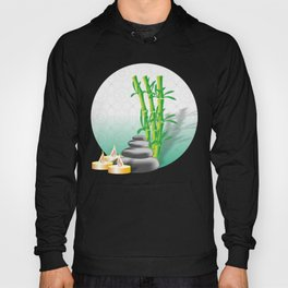Meditation stones, bamboo and candles Hoody