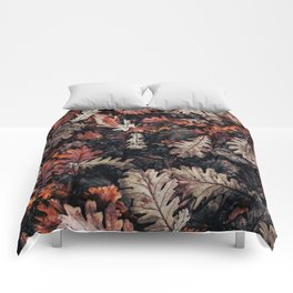 Autumn to winter dry leaves Comforters