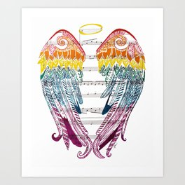 I Am Here ( Rainbow Angel Wings ) Art Print