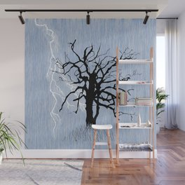 Gnarled Tree and Lightning Wall Mural