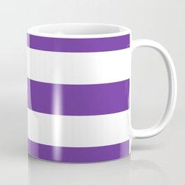 Rebecca Purple - solid color - white stripes pattern Coffee Mug