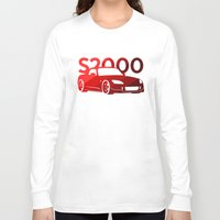 honda Long Sleeve T-shirts featuring Honda S2000 - classic red - by Vehicle