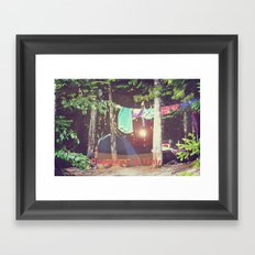 Camping Is In Tents Framed Art Print