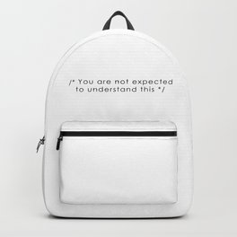 you are not expected to understand this Backpack
