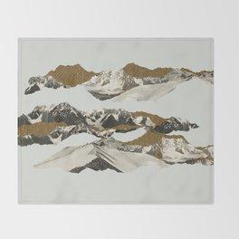 Golden Zugspitze / White Throw Blanket