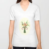 into the wild V-neck T-shirts featuring Wild by Jade Young Illustrations