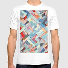 Summer in the City Mens Fitted Tee MEDIUM White