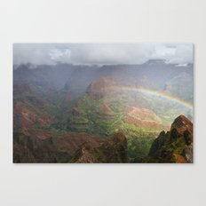 Waimea Canyon Rainbow Canvas Print