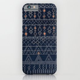 Blue Farmhouse Antique Traditional Moroccan Style Artwork iPhone Case