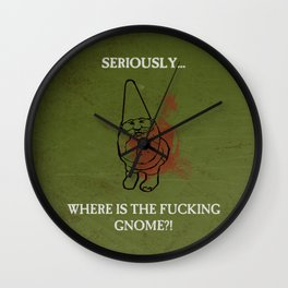 Where is the freakin' gnome? Wall Clock
