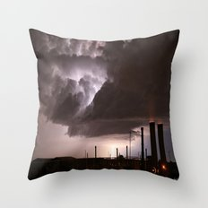 Industrial Spark Throw Pillow