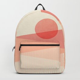 Abstraction_SUNSET_LINE_ART_Minimalism_001 Backpack