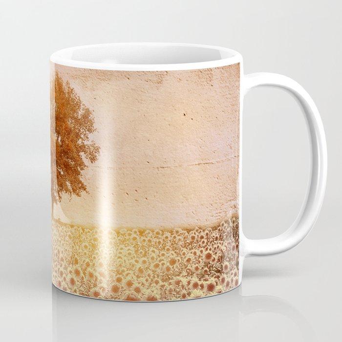 lone tree & sunflowers field (colour option) Coffee Mug