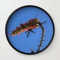 hook Wall Clocks featuring Ocotillo Hook by Mae2Designs