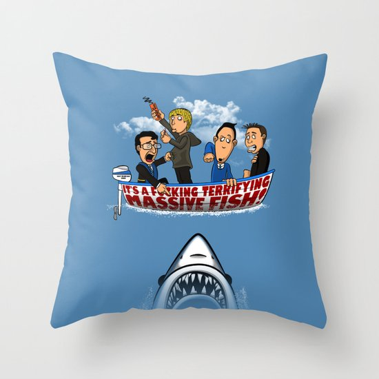 Fish Punch Throw Pillow