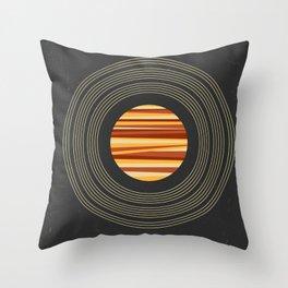 SPACE - Universe | Stars | Saturn | Science | Planets | Minimal | Swiss Design | Retro Art Print Throw Pillow